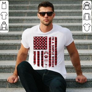 I'm a simple woman american flag shirt