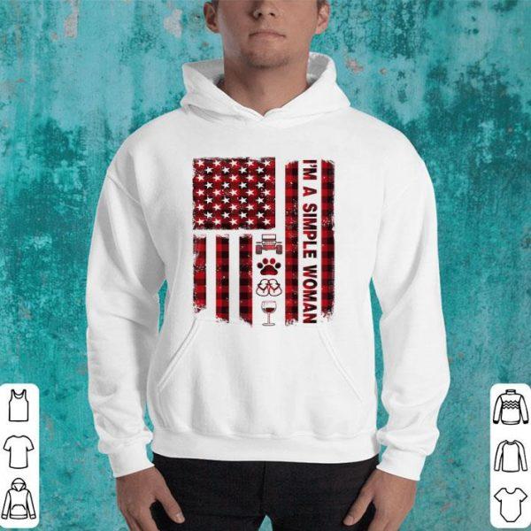 I'm a simple woman american flag shirt
