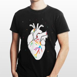 LGBT Flag Heartbeat Gay Lesbian Resist shirt