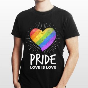 LGBT Pride Love Is Love Rainbow Heart Gay Rights Support shirt