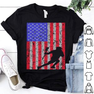 Lacrosse Player American Flag Vintage Design Lax Player shirt