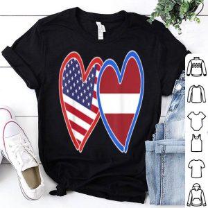 Latvian America Flag shirt