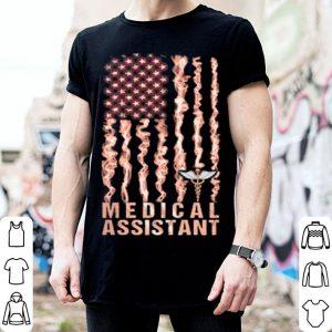 Medical assistant American flag shirt