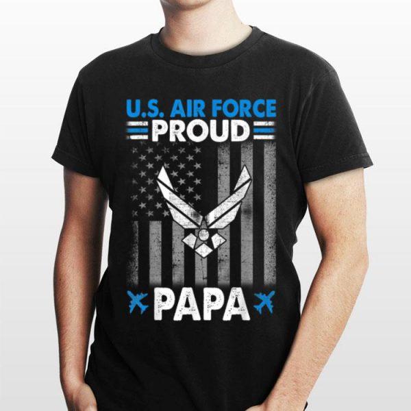 Mens Proud Air Force Papa Grandpa Veteran Papa Pride Tee shirt