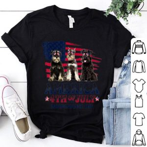 Miniature Schnauzer America 4th Of July Independence Day American Flag shirt