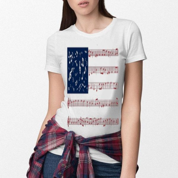 Music note American flag shirt