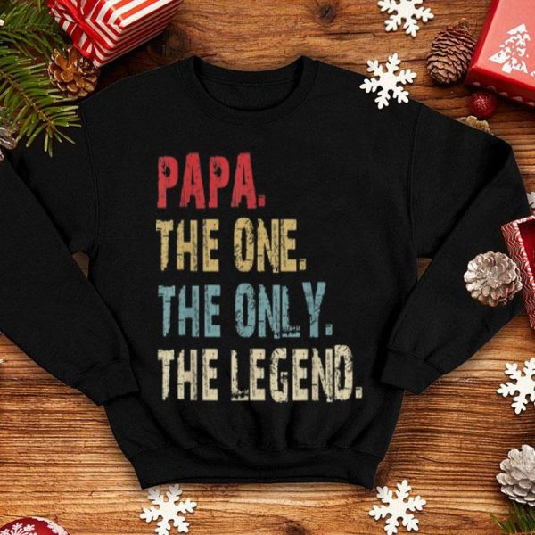 PapaThe One The Only The Legend Vintage Fathers Day shirt