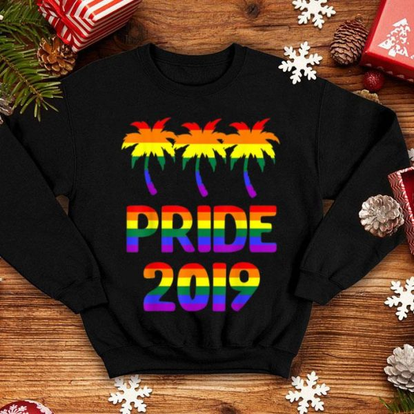 Pride 2019 LGBT Rainbow Palm Trees shirt
