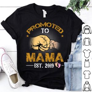 Promoted To Mama Est 2019 New Dad Fathers Day shirt