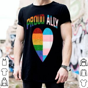 Proud Ally Heart Rainbow Lgbt Transgender Pride Month shirt