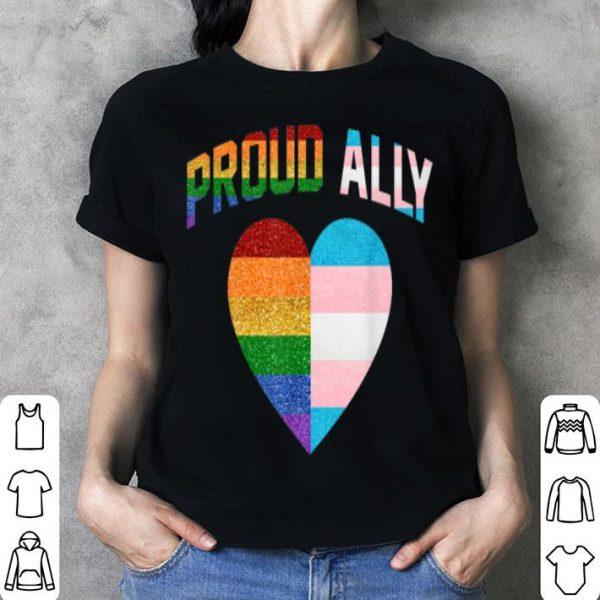 Proud Ally Heart Rainbow Lgbt Transgender Pride Month shirt