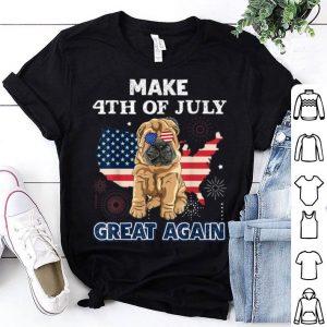 Shar Pei Make 4th Of July Great Again Dog shirt