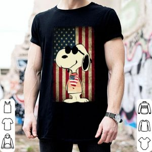 Snoopy American flag shirt