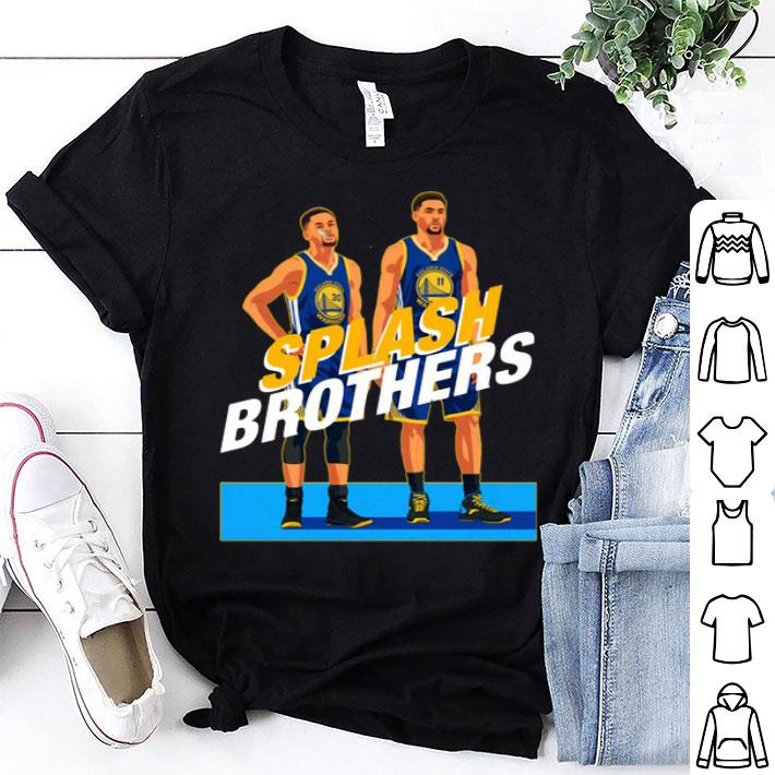 half off e0914 6d2bd Splash Brothers Stephen Curry Klay Thompson Golden State Warriors shirt