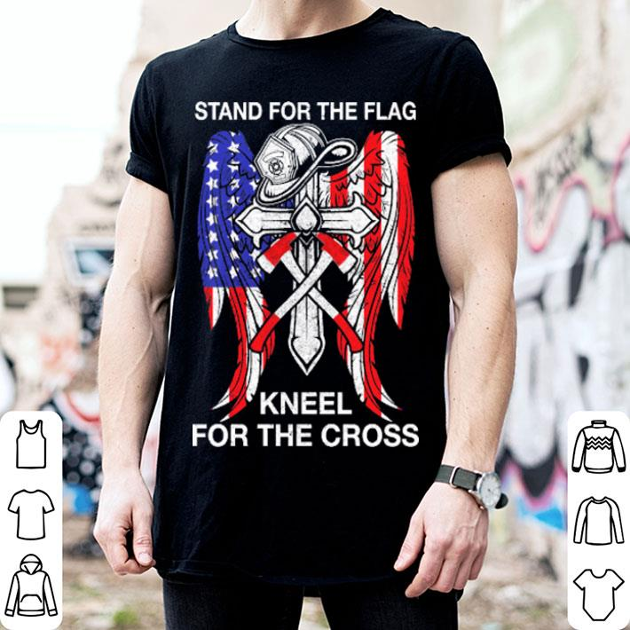 Stand For The American Flag Kneel For The Cross Shirt