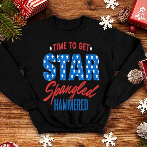 Star Spangled Hammered Beer Drunk 4th Of July shirt
