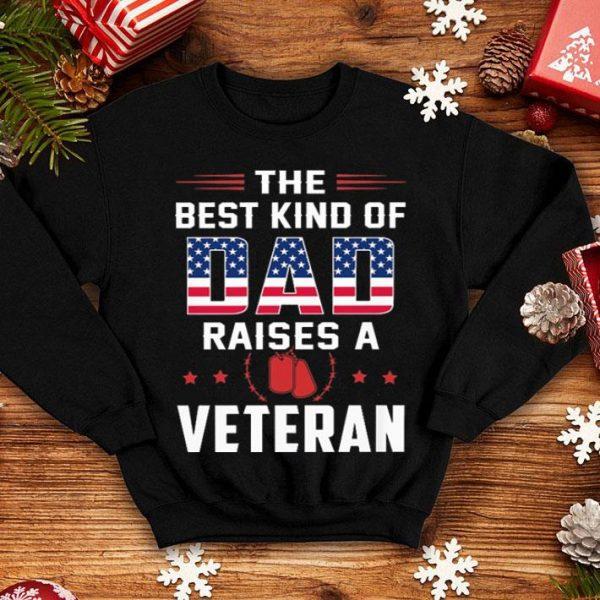 The best kind of dad raises a veteran American flag shirt