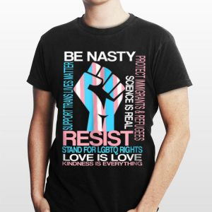 Transgenderresist LGBTQ Gay Trans Flag Pride Unity shirt