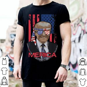 Trump Merica Murica USA Pride Flag 4th of July shirt