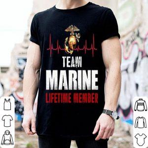 United States Team Marine Corps lifetime member shirt