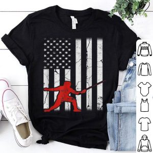 Vintage American Flag Fencing Apparelword Fighting shirt