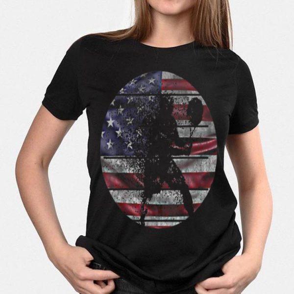 Vintage Tennis 4th Of July American Flag shirt
