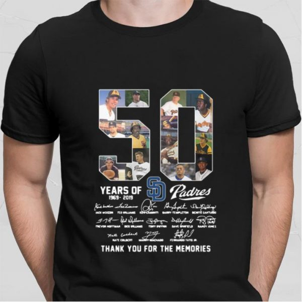 50 Years Of San Diego Padres thank you for the memories shirt