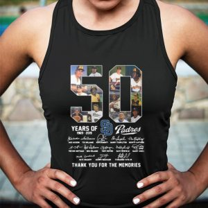 50 Years Of San Diego Padres thank you for the memories shirt 2