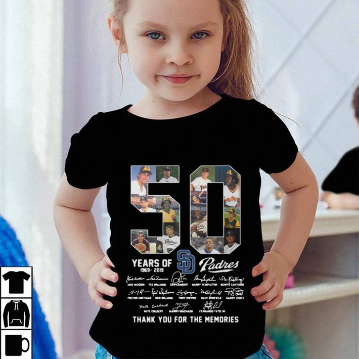 50 Years Of San Diego Padres thank you for the memories shirt 4 - 50 Years Of San Diego Padres thank you for the memories shirt
