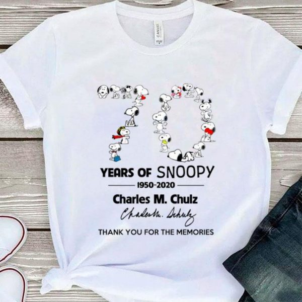 70 years of Snoopy Charles M Schulz thank you for the memories shirt