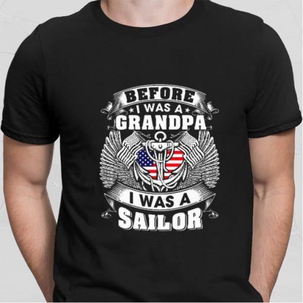Before i was a grandpa i was a sailor American flag shirt