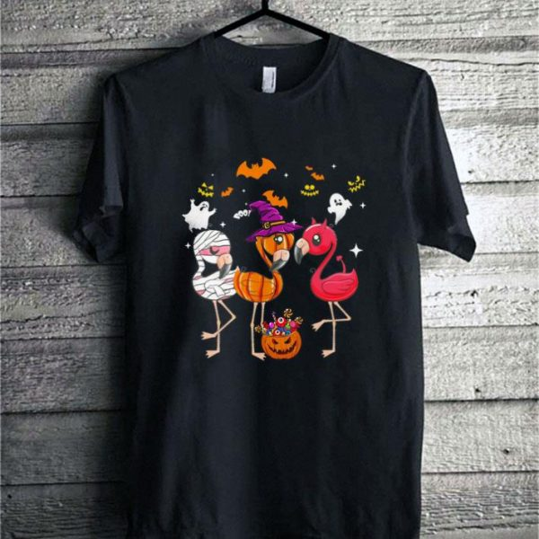 Flamingos halloween shirt