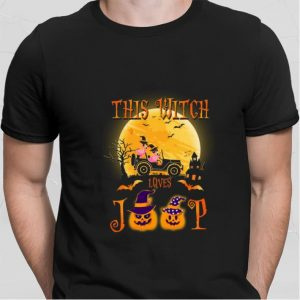 Flamingos this witch loves Jeep shirt