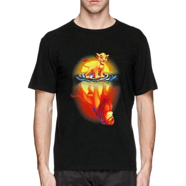 Mufasa In Simba's Reflection Lion King shirt sweater