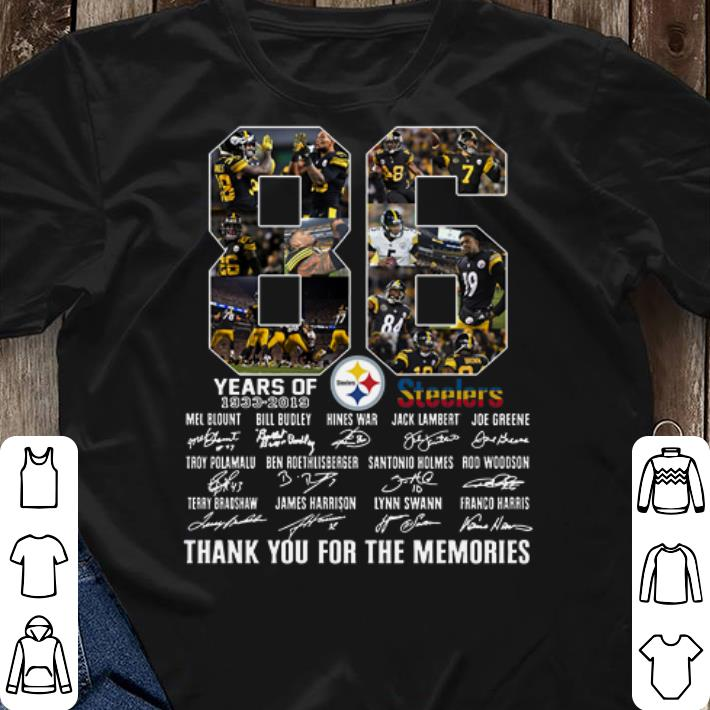 quality design ab207 d3776 Pittsburgh Steelers 1933-2019 86th Anniversary signatures shirt, hoodie,  sweater, longsleeve t-shirt