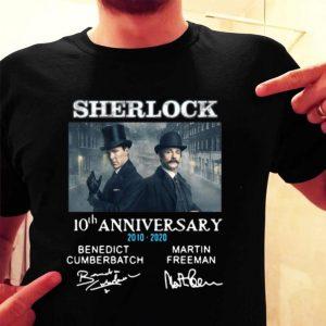 Sherlock Holmes 10th Anniversary 2010-2020 Signatures shirt