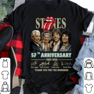 Signatures The Rolling Stones 57th anniversary 1962-2019 shirt 1