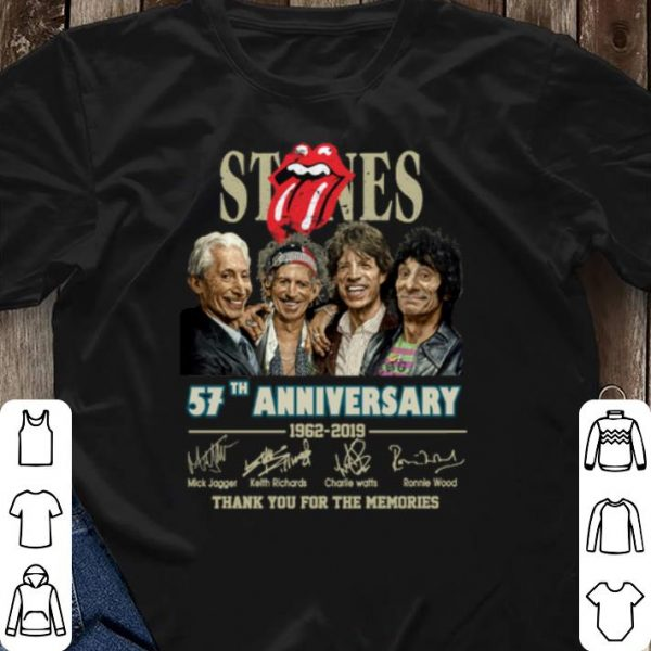 Signatures The Rolling Stones 57th anniversary 1962-2019 shirt