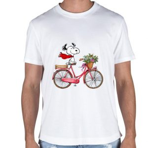 Snoopy on the bicycle shirt 1