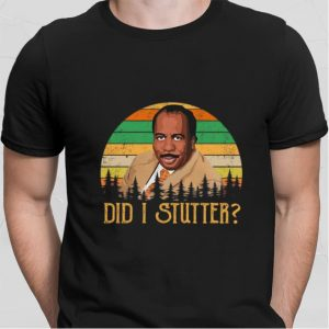 Stanley Hudson did i stutter sunset vintage shirt