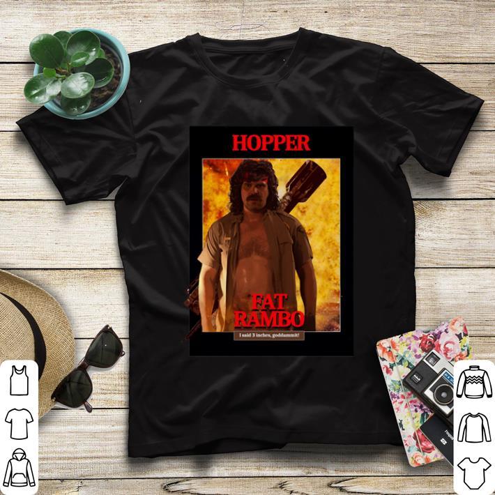 Stranger Things 3 Fat Rambo Jim Hopper shirt 4 - Stranger Things 3 Fat Rambo Jim Hopper shirt