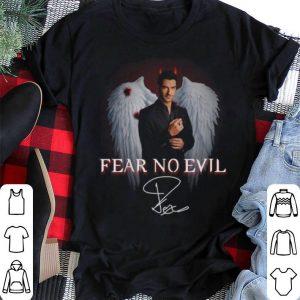 Tom Ellis signature Lucifer Fear no evil shirt
