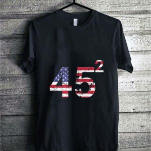 Trump 45 square 2020 American flag shirt