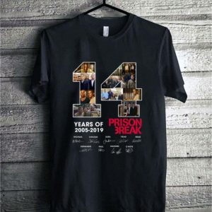 14 Years Of Prison Break 2005-2019 signatures shirt sweater