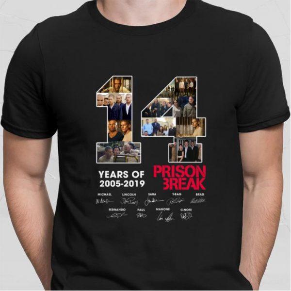 14 Years Of Prison Break 2005-2019 signatures shirt sweater