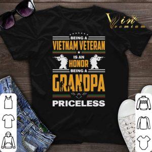 Being a Viet Nam veteran is an honor being a grandpa priceless shirt sweater