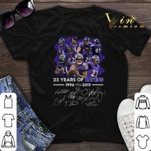 Signatures 23 years of Baltimore Ravens 1996–2019 shirt