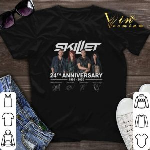 Signatures Skillet 24th anniversary 1996-2020 shirt