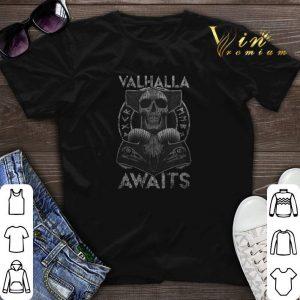 Skull Valhalla Awaits Viking shirt sweater