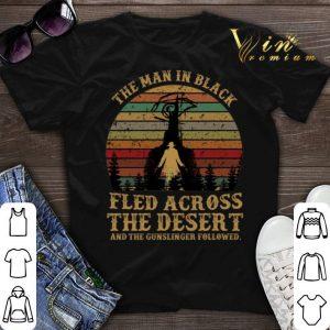 Sunset The man in black fled across the desert the gunslinger sunset shirt